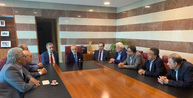 مجموعة العمل الفلسطينية التقت الوزير أكرم شهيب