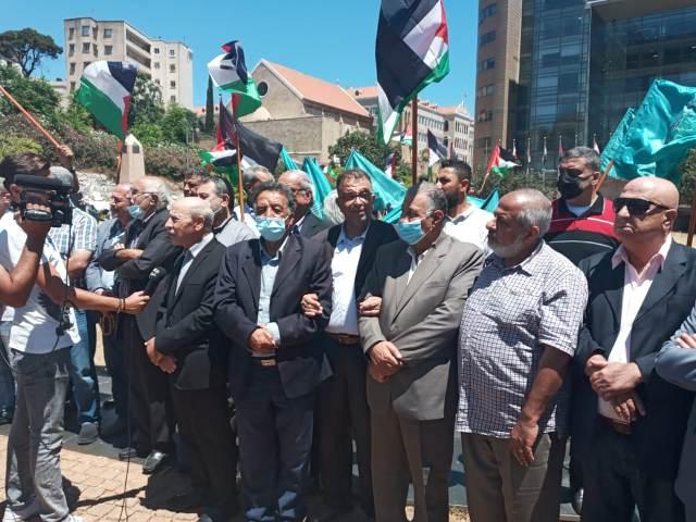 الشعبية في لبنان تشارك في اللقاء التضامني مع القدس ورفضا لمسيرة الأعلام الصهيونية