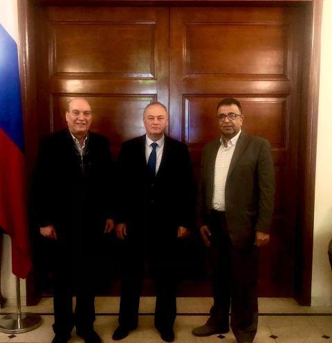 الجبهة الشعبية تلتقي السفير الروسي