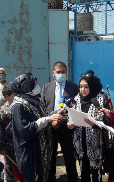 اعتصام للجان المرأة الشعبية الفلسطينية ونساء المخيمات أمام مكتب الأونروا في بئر حسن