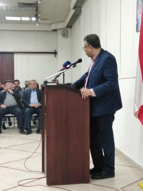 في حفل تكريم صدقي المقت عبد العال: أنا أرفض صفقة القرن إذًا أنا أقاوم