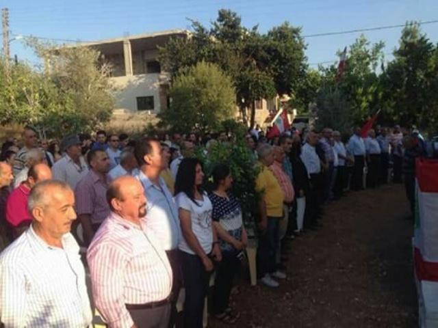 الشعبية تشارك في مهرجان شهداء الحزب الشيوعي اللبناني