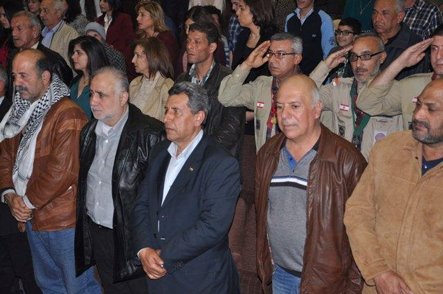 الجبهة الشعبية في منطقة صيدا شاركت التنظيم الشعبي الناصري تكريم صحافيين عاشوا مرحلة احتلال صيدا وواكبوا العمل المقاوم