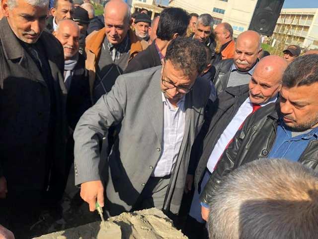 وضع حجر الأساس للعقار 39 في مخيم نهر البارد
