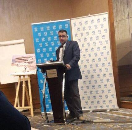 كلمة  مروان عبد العال مسؤول لجنة المتابعة العليا لإعادة البارد التي ألقاها، في ورشة الحوار التي دعت إليها الأونروا