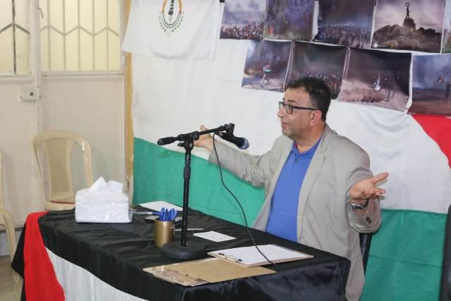 عبدالعال: الحفاظ على مخيماتنا محطة نحو طريق العودة إلى فلسطين