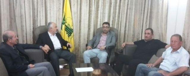 وفد قيادي من الجبهة الشعبية يلتقي مسؤول العلاقات الفلسطينية في حزب الله
