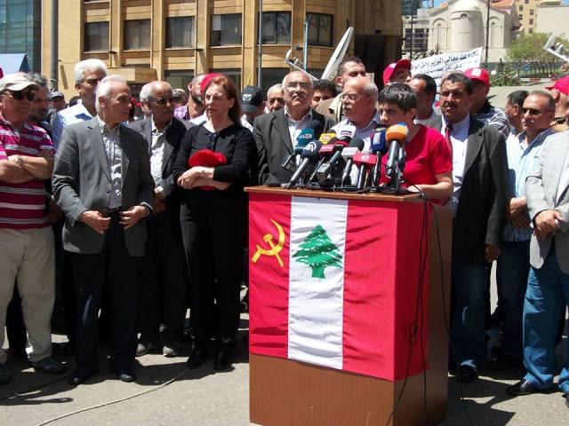 مسيرة الحزب الشيوعي اللبناني لمناسبة عيد العمال