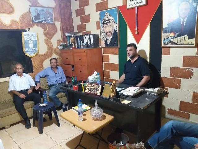 الشعبية في صيدا تجول على على الفاعليات السياسية في مخيم المية ومية