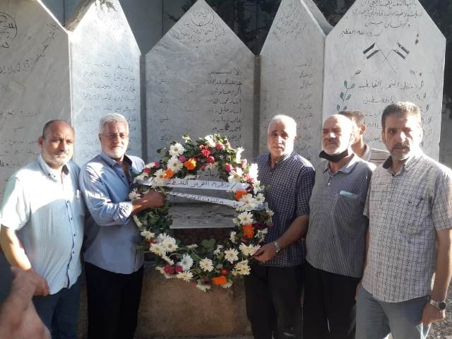 فصائل منظمة التحرير الفلسطينية تزور أضرحة الشهداء