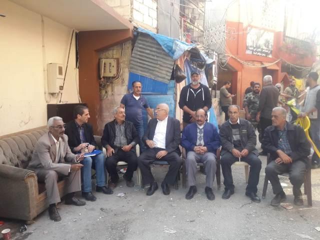 وفد قيادي من الجبهة الشعبية يجول في مخيم المية ومية