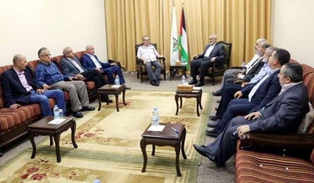 خلال اجتماع قيادي بين الشعبية وحماس.. الاتفاق على ضرورة مواجهة المخاطر التي تواجه القضية الفلسطينية