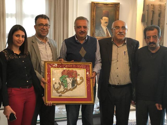 الجبهة الشعبية لتحرير فلسطين  تلتقي المير طلال أرسلان