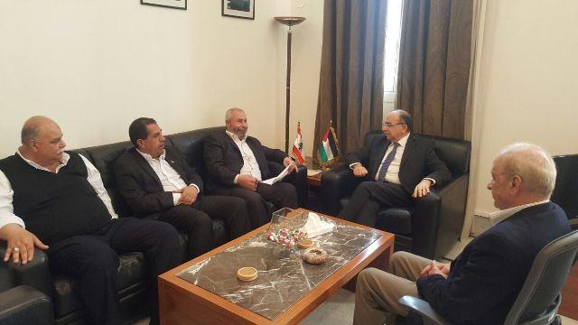أمين سر حركة فتح في الشمال يزور يلتقي الوزير حسن منيمنة
