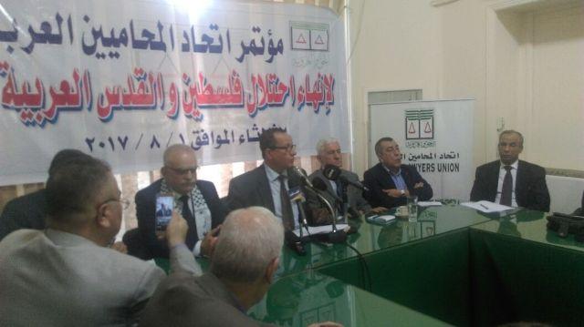 المؤتمر الشعبي اللبناني يشارك في مؤتمر اتّحاد المحامين العرب حول إنهاء احتلال فلسطين والقدس