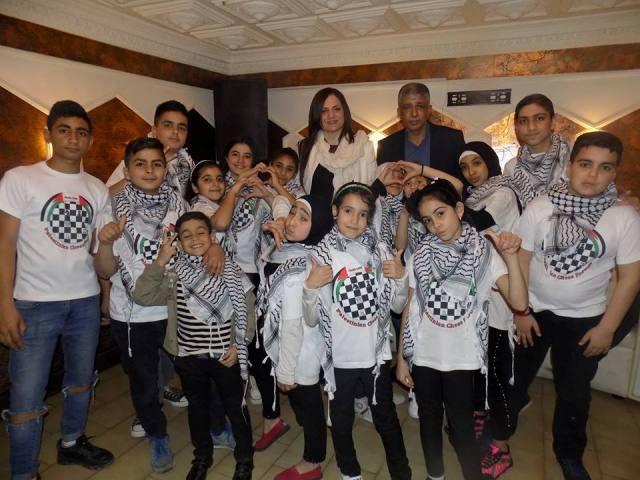 عشاء للملتقى الفلسطيني للشطرنج في مطعم اسطنبولي