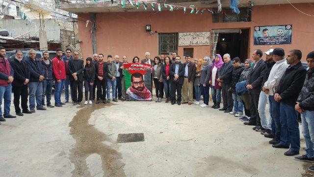 اعتصام إعلامي في عين الحلوة وفاء للأعرج ورفضًا لمنع الأذان في فلسطين المحتلة