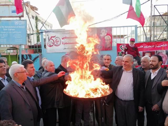 الجبهة الشعبية في صور توقد شعلة انطلاقتها الــ 52