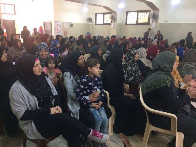 الصحة المجتمعية التابعة لجمعية الهلال الأحمر الفلسطيني في البارد تقيم احتفالًا بمناسبة عيد الأم