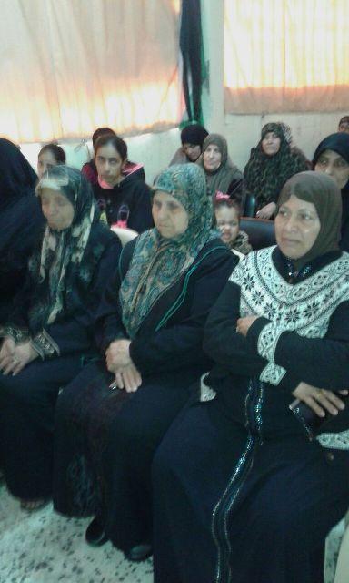 لجان المرأة الشعبية الفلسطينية في الرشيدية تكرم رفيقاتها وأسر شهدائها