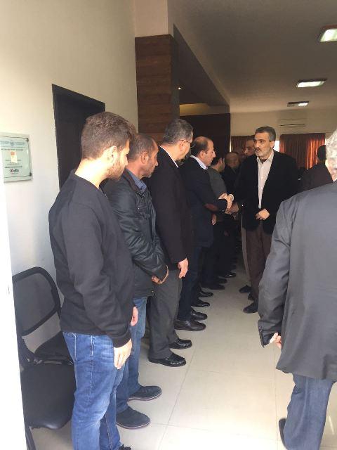 الجبهة الشعبية تقدم واجب العزاء برحيل رئيس اتحاد بلديات قضاء صور ابو ظافر الحسيني