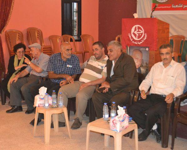 الجبهة الشعبية في صور تتقبل التعازي بالقائد الوطني تيسير قبعة