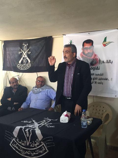 من مخيم برج الشمالي تحية لروح الشهيد باسل الأعرج