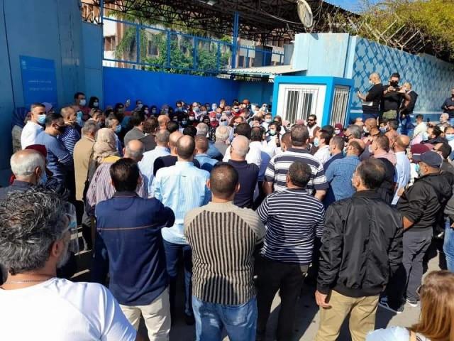 اعتصام حاشد وغاضب لاتحاد عاملي الأونروا في لبنان