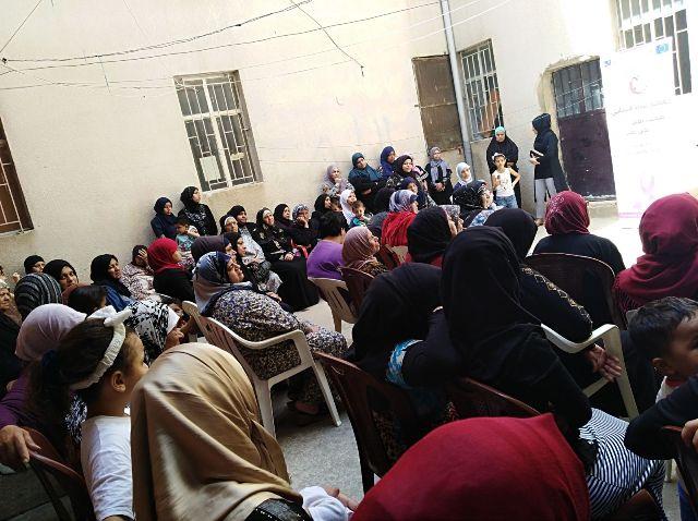 لجان المرأة الشعبية الفلسطينية تقيم ندوة صحية في مخيم عين الحلوة