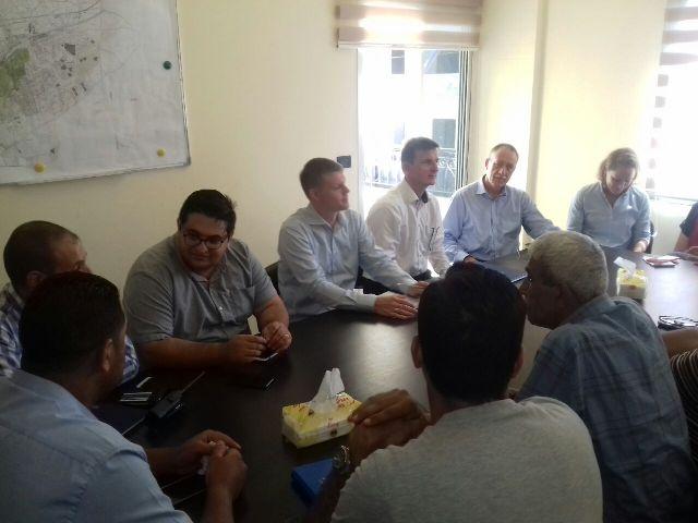 وفد من وزارة التنمية والسفارة الألمانية في زيارة لوادي نحلة