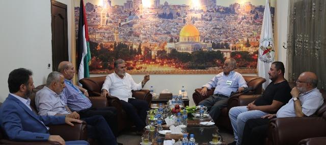 الشعبية تلتقي بالأمين العام لحركة الجهاد الإسلامي في فلسطين زياد نخالة