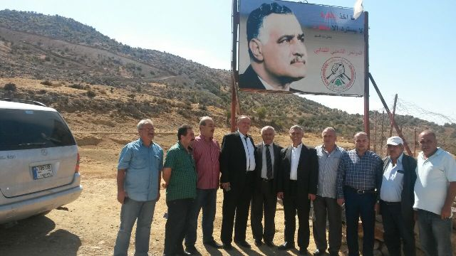 رئيس الحزب الناصري المصري يزور بوابة  مزارع شبعا والعرقوب