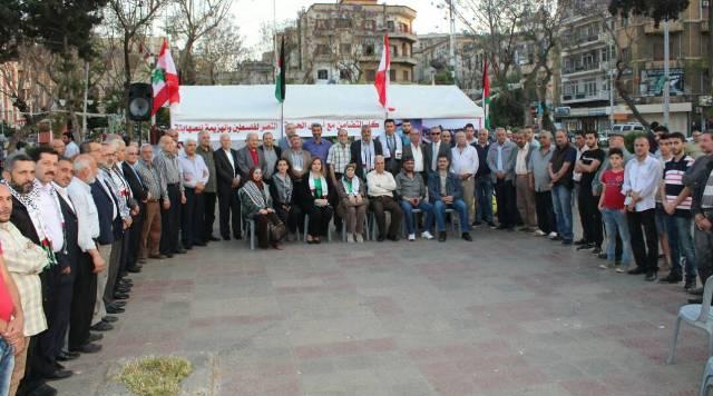 لقاء تضامني مع الأسرى الفلسطينيين في ساحة جمال عبد الناصر في طرابلس