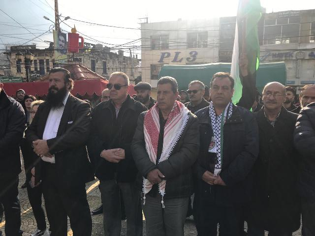 الشعبية تشارك في المهرجان التضامني مع فلسطين في النبطية