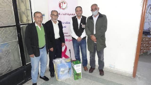 اللجان العمالية الشعبية الفلسطينية تزور مستشفى النداء الإنساني في عين الحلوة
