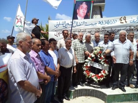 الشعبية في صيدا تشارك في الذكرى 49 لانطلاقة جبهة النضال