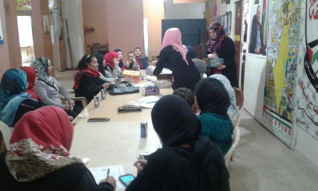 لجان المرأة الشعبية الفلسطينية تقيم ندوة حول العنف الأسري في وادي الزينة