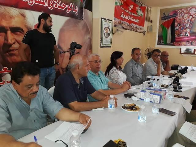 اتحاد الكتاب والأدباء الفلسطينيين في لبنان يرفض المشروع الأميركي لتصفية القضية الفلسطينية