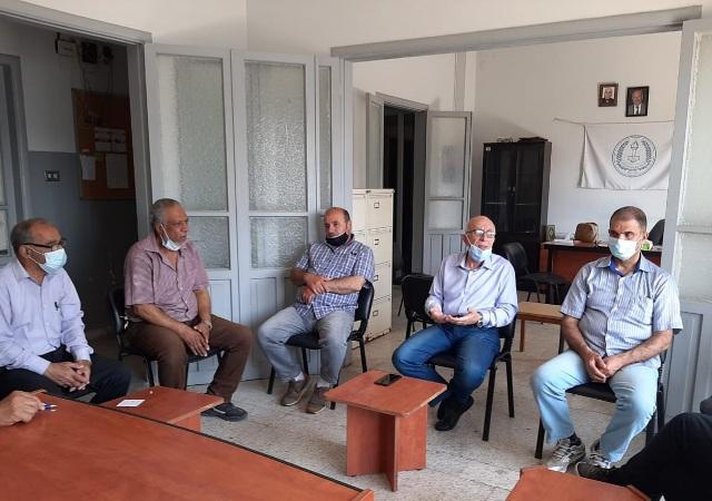اتحاد نقابات عمال فلسطين فرع لبنان منطقة صيدا  يزور مقر اتحاد نقابات و مستخدمي لبنان الجنوبي  في مدينة صيدا