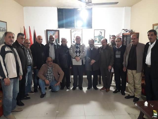 اللجان العمالية الشعبية الفلسطينية في صيدا تقيم ندوة نقابية حوارية