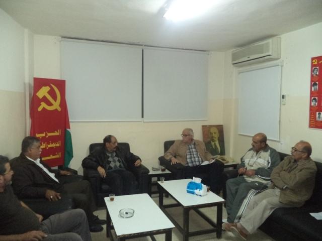 اللجان العمالية الشعبية الفلسطينية تزور الحزب الديمقراطي الشعبي