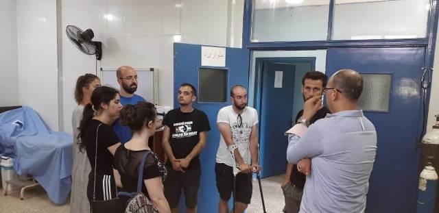 وفد جمعية فلسطين ستنتصر الفرنسية زار مخيم نهرالبارد