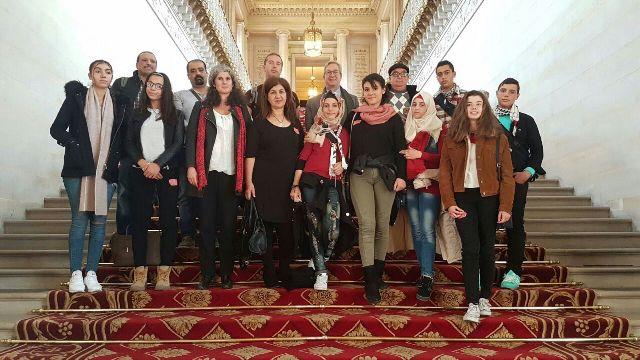 الوفد الشبابي الفلسطيني يتابع زيارته إلى فرنسا