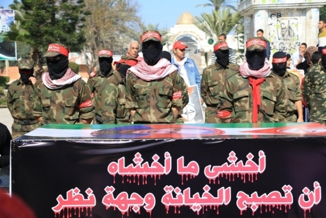 الشعبية في غزة تنظم مسيرًا جنائزيًا رمزيًا حاشدًا للشهيد النايف وتؤكد أنها ستثأر لدمائه عاجلاً أم آجلاً