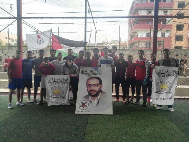 رابطة بيت المقدس لطلبة فلسطين تقيم مباراة ودية في نهر البارد
