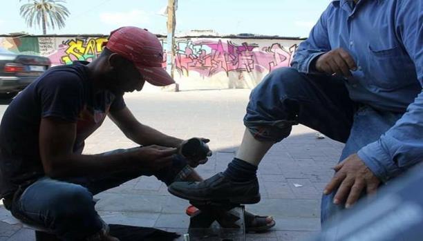 رامي النوري بدأ مسح الأحذية في سورية