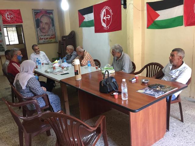 الجبهة الشعبية في صور تستقبل وفداً من حزب فدا