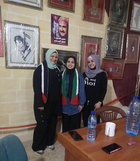 لجان المرأة الشعبية الفلسطينية تلتقي مكتب المرأة في حركة الانتفاضة الفلسطينية
