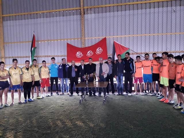 منظمة الشبيبة الفلسطينية في صيدا تقيم دورة كرة قدم للدرجة الأولى