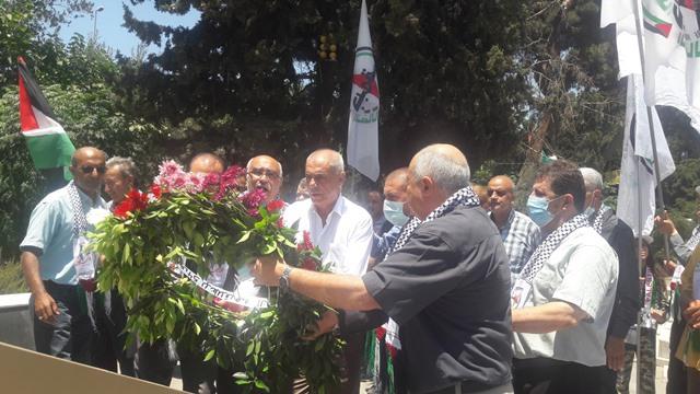 الشعبية تشارك جبهة النضال الشعبي الفلسطيني بإحياء  ذكرى انطلاقتها ال 54